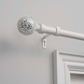 crushed glass curtain rod hardware