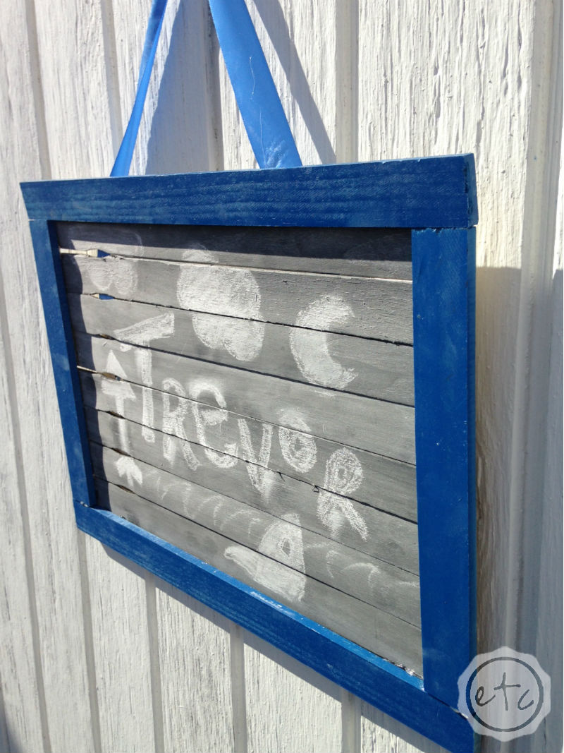 Easy DIY Paint Stick Chalkboard