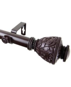bronze curtain rod with filigree designs