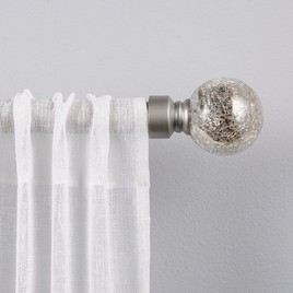 silver mercury glass ball curtain rod