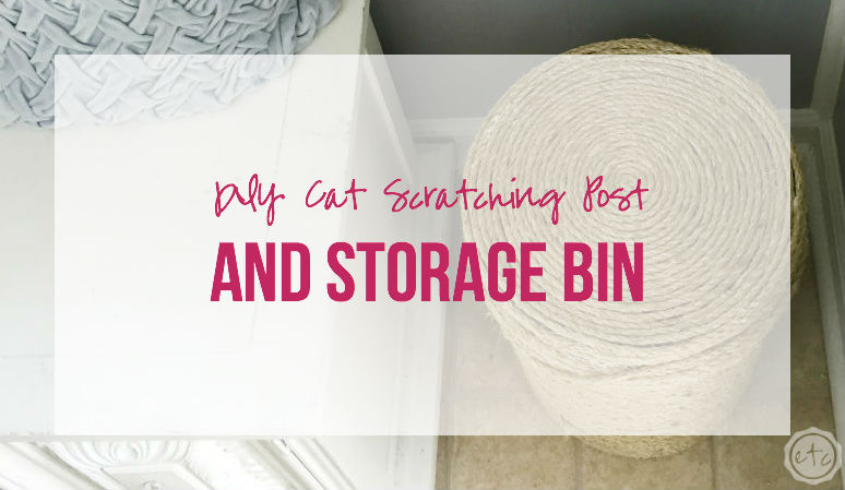DIY Cat Scratching Post and Storage Bin!