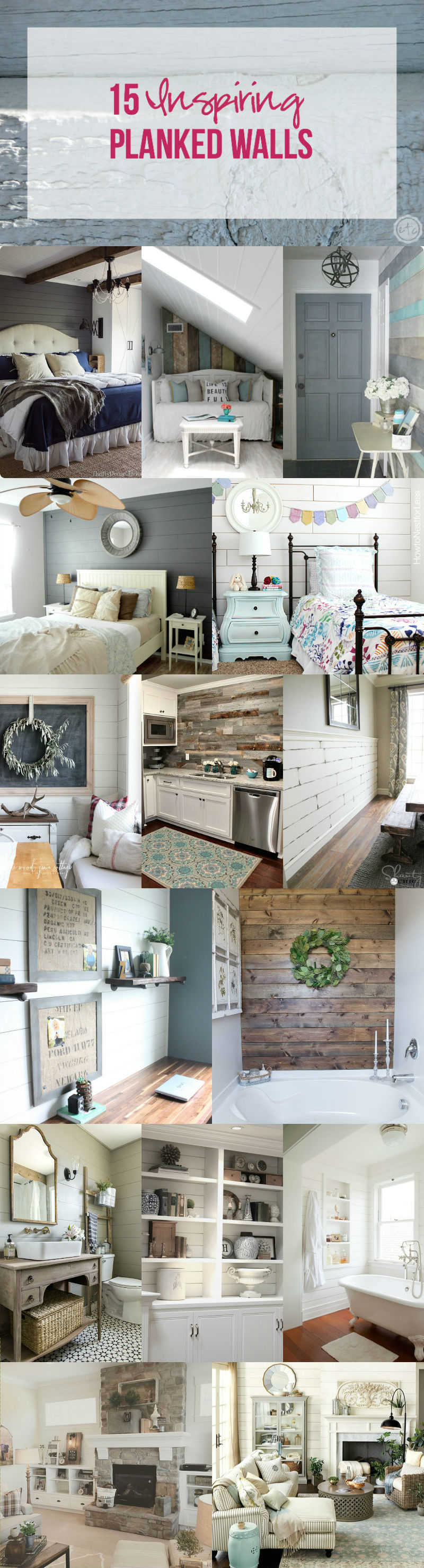 15 Inspiring Planked Walls with Happily Ever After, Etc.