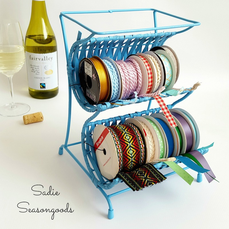 7 Wine_bottle_holder_repurposed_into_craft_ribbon_cradle_holder_Sadie_Seasongoods