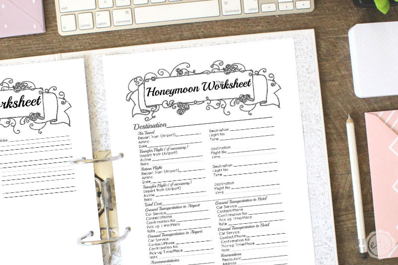 Black Wedding Binder Honeymoon
