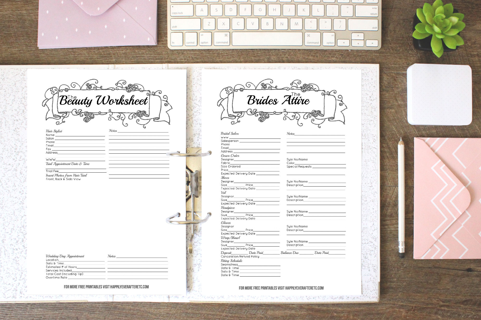 How to put together your perfect free wedding binder for Diy wedding binder templates