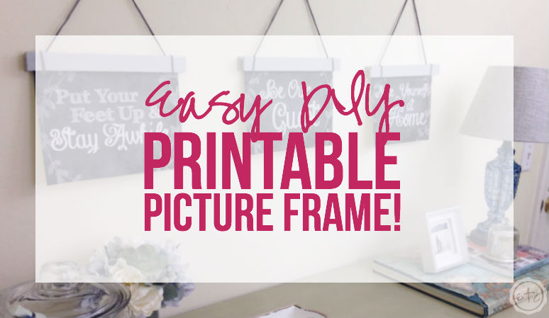 I could totally make this DIY picture frame... it would be great for printables!