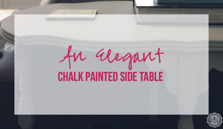 An Elegant Chalk Painted Side Table