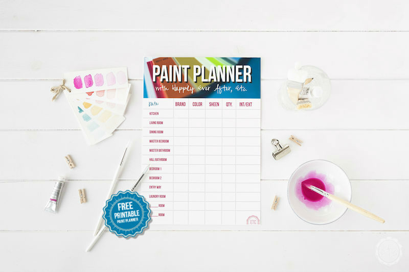 I can never remember which paint colors we picked for the dining room... I am LOVING this free printable paint color tracker! You can write down all of the paint colors in your entire house! How cool is that? (How to Keep Track of the Paint Colors in your Home with Happily Ever After, Etc. PLUS a free printable)