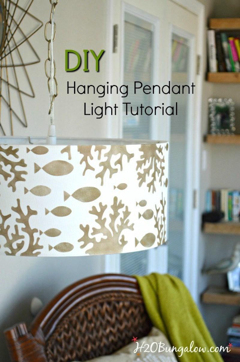 3 DIY-stenciled-lampshade-hanging-pendant-light-tutorial-H2OBungalow
