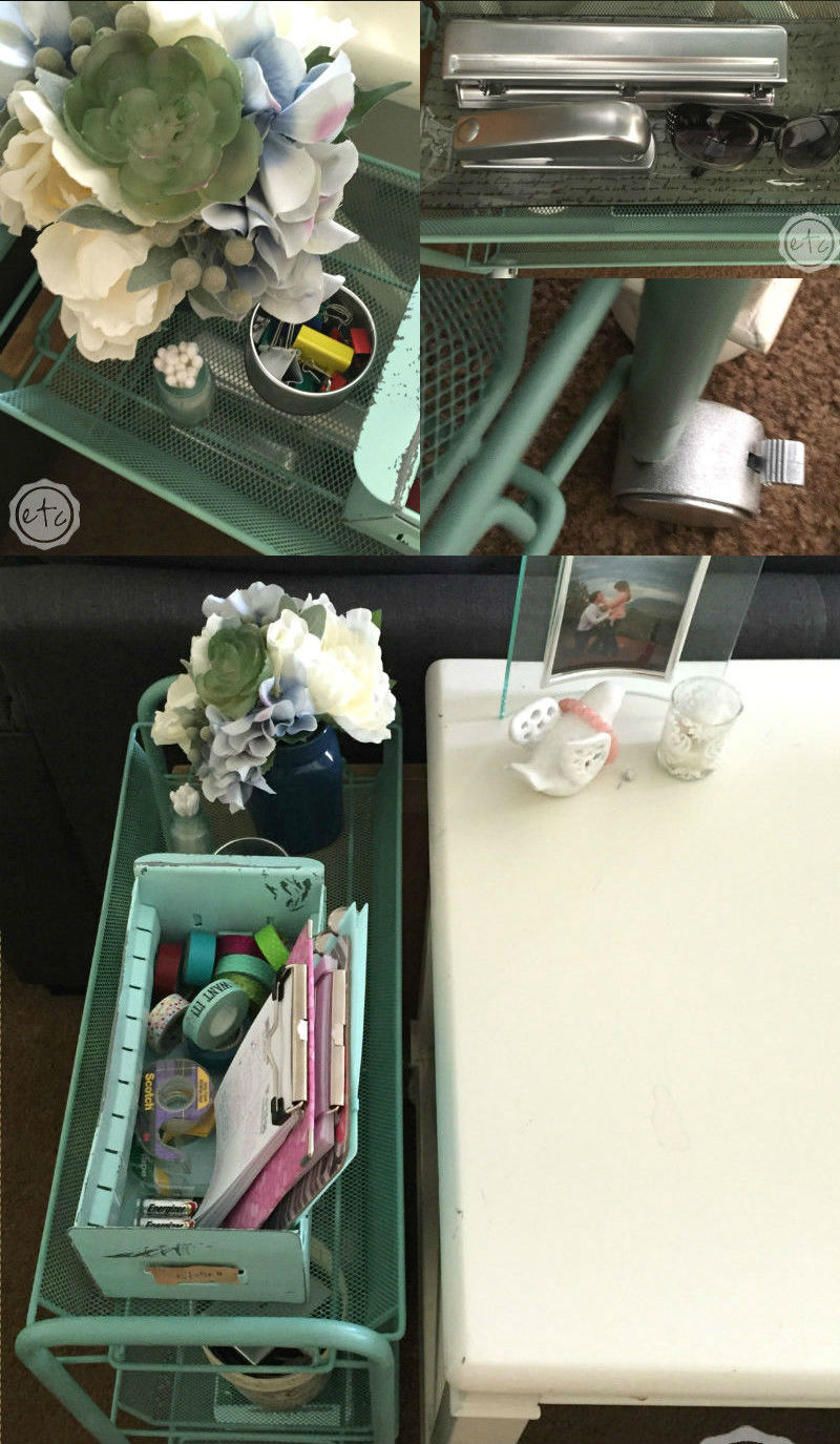 DIY Rolling Cart Organization