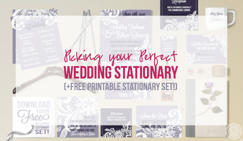 Oh my goodness how cute is this?! A FREE downloadable stationary set! You can even customize the wording for your own wedding... I am so printing my own invitations now! Click through to snag it yourself! @HappilyEverAEtc