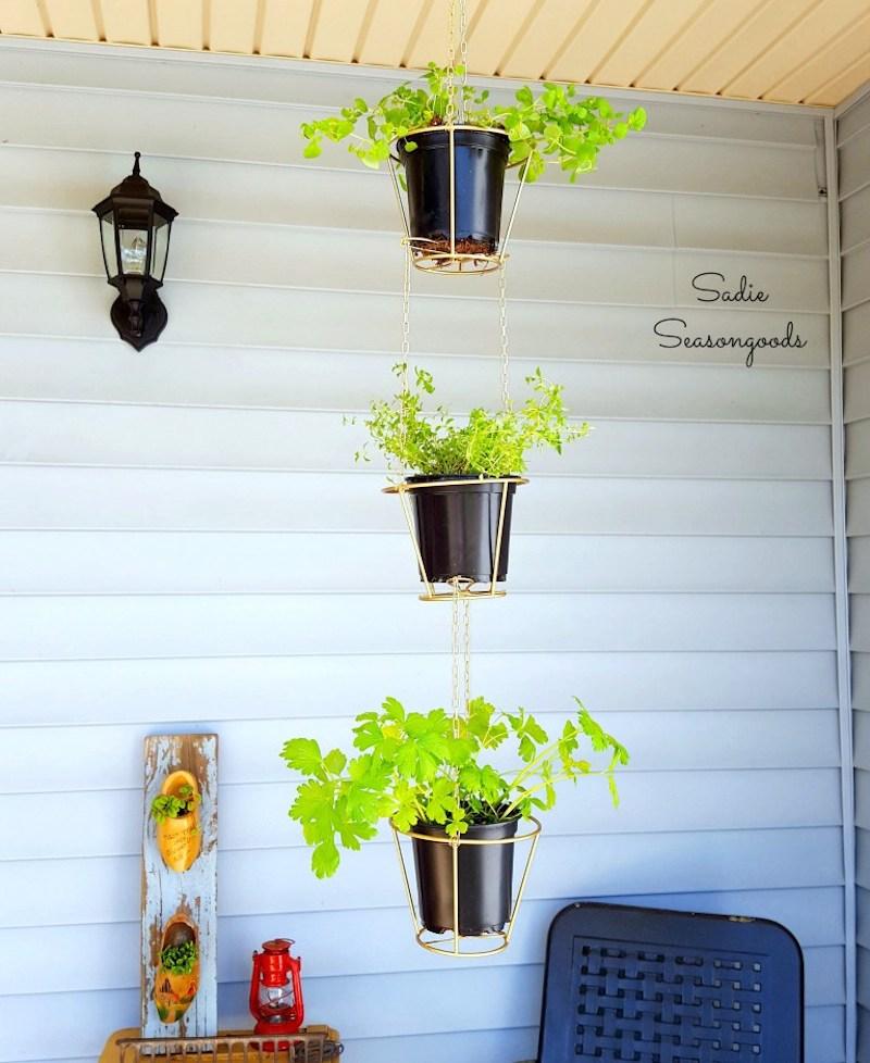 1 9_thrift_store_lampshades_repurposed_as_hanging_herb_baskets_Sadie_Seasongoods