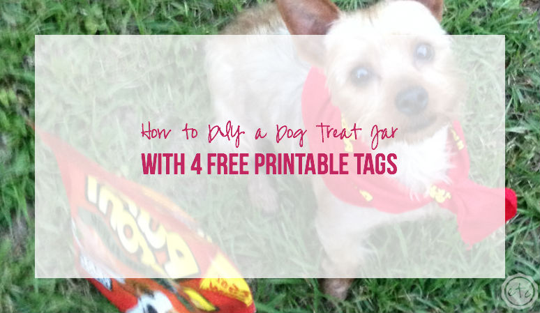 How to DIY a Dog Treat Jar with 4 Free Printable Tags
