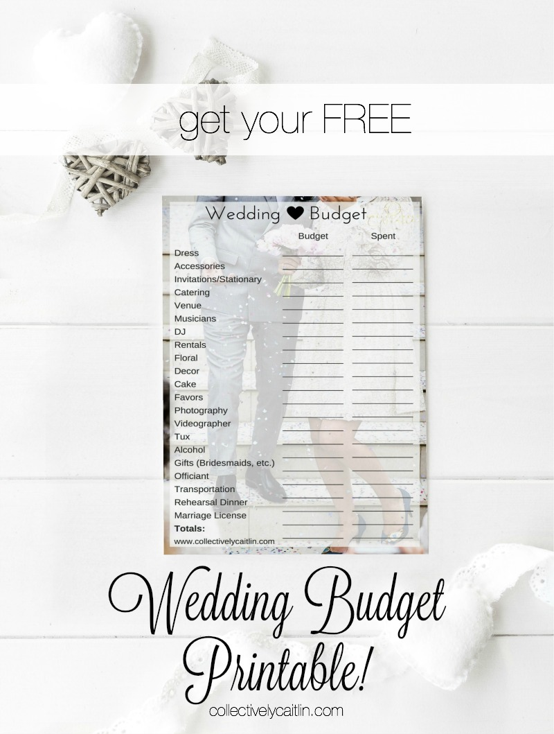 How to Plan YOUR Wedding Budget (+ Free Printable!)