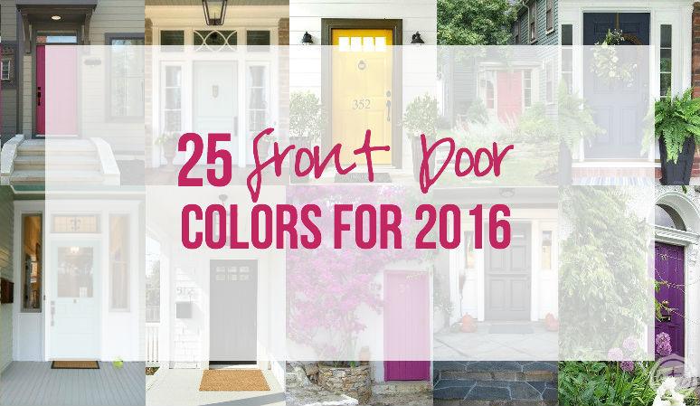 25 Front Door Colors for 2016
