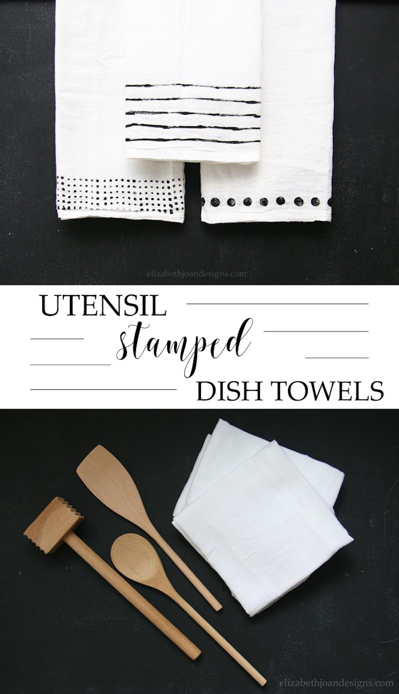 Utensil Stamped DishTowels