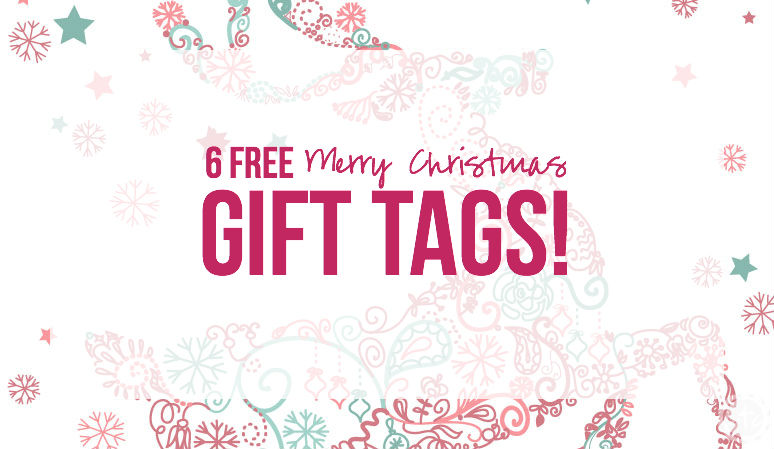 photograph regarding Christmas Gift Tags Free Printable known as 6 Absolutely free Printable Merry Xmas Present Tags! - Fortunately At any time