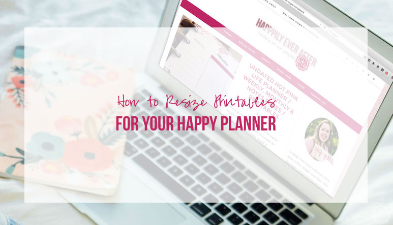 photo relating to Happy Planner Printable called How toward Resize Printables for Your Delighted Planner! - Fortunately