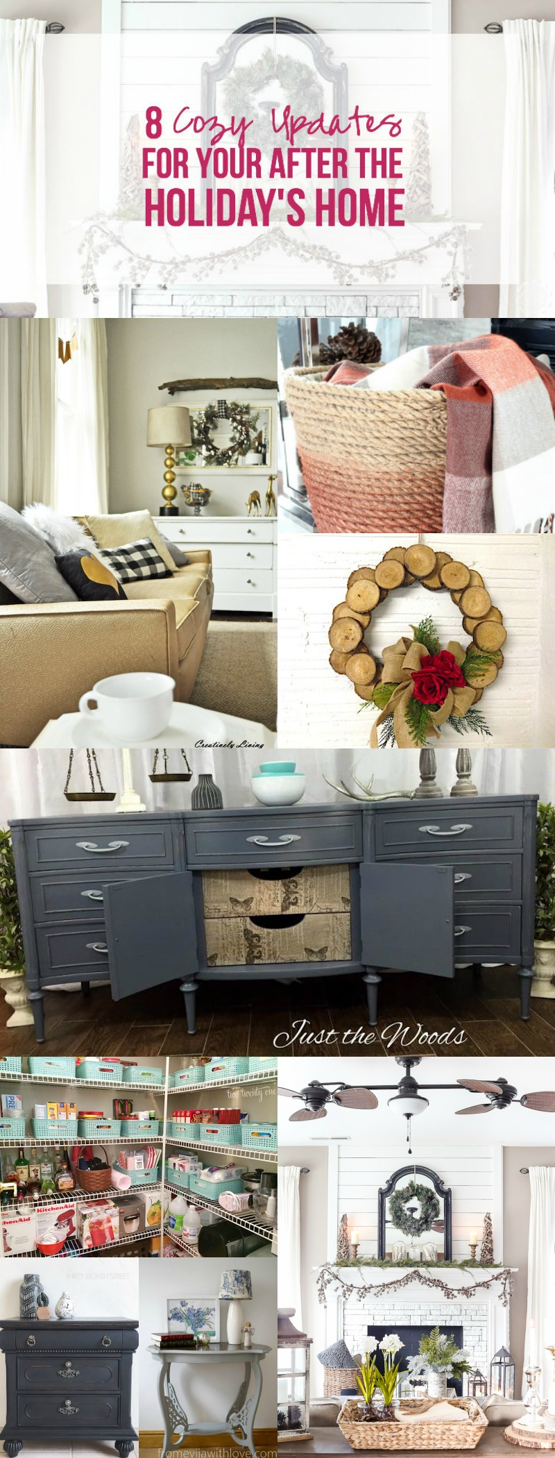 8 Cozy Updates for your After the Holiday's Home