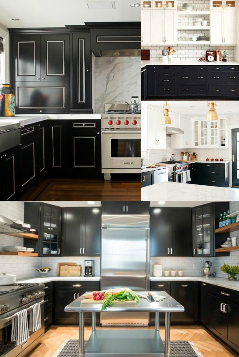 1 4 Black and White Cabinets