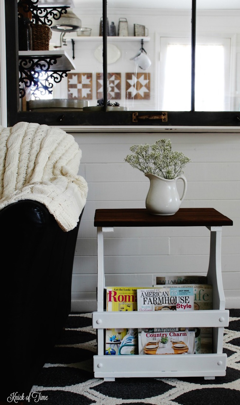 3 white-farmhouse-style-thrift-store-accent-table-makeover-Knick-of-Time