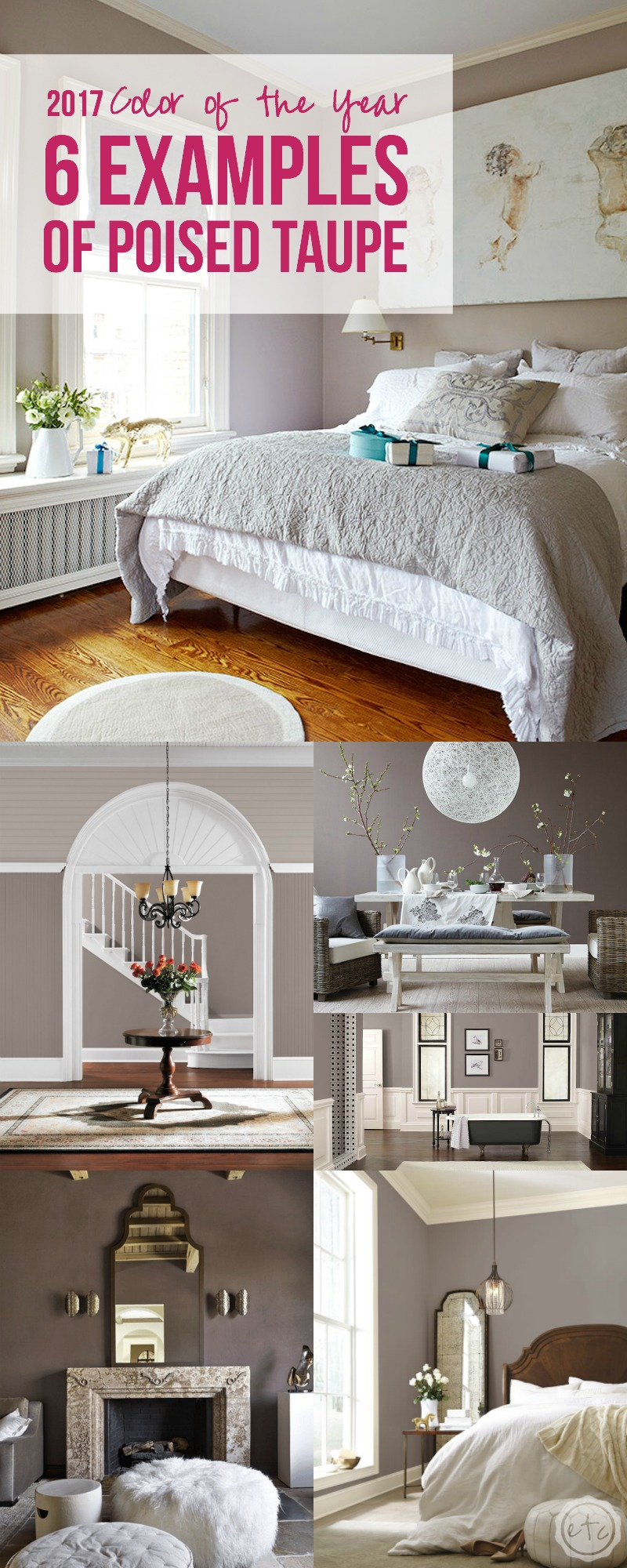 2017 Color of the Year - 6 Examples of Poised Taupe