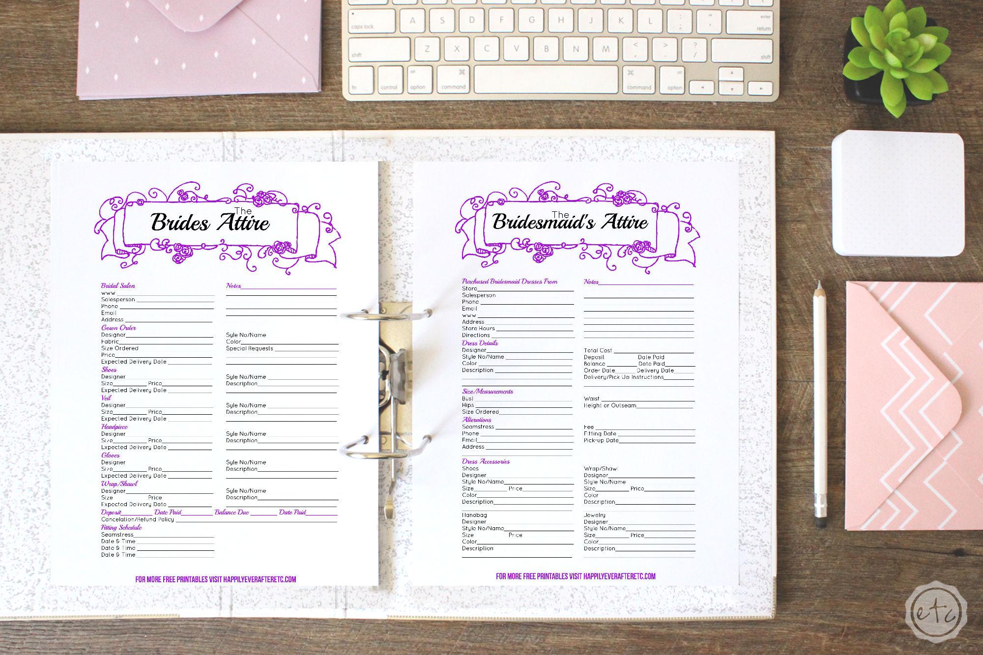 Purple WEDDING BINDER 1