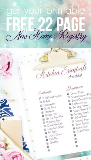 Get Your FREE 22 Page Printable New Home Registry