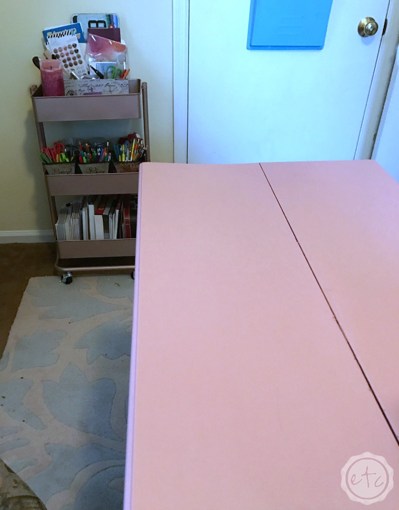 100 Room Makeover Phase 2 Painted Desk Makeover