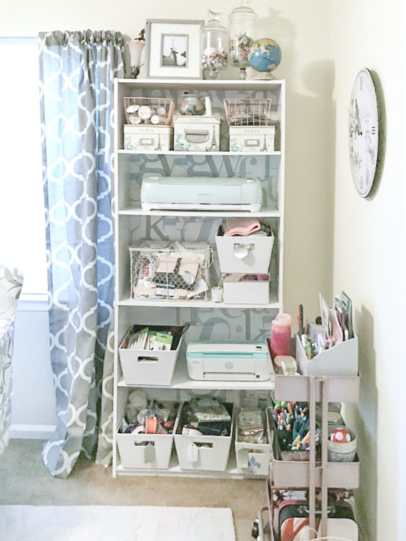 Craft Room Organization Ideas: Standard Bookcase storage ideas