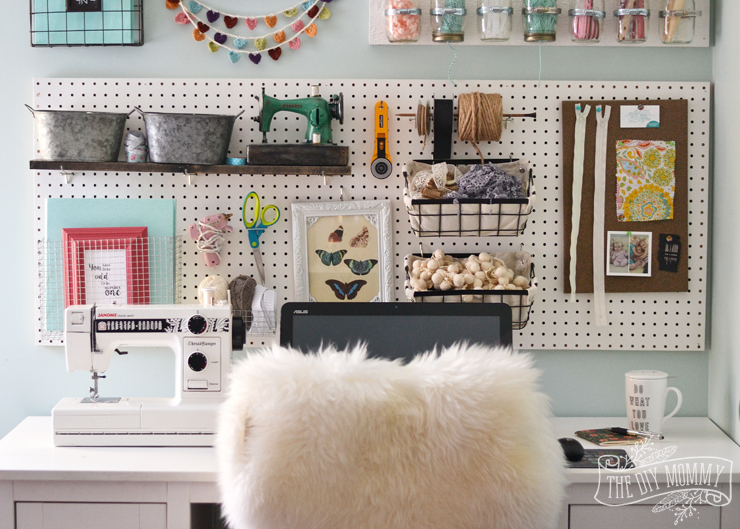 Office-Craft-Room-Gallery-Wall-Storage-Pegboard-7