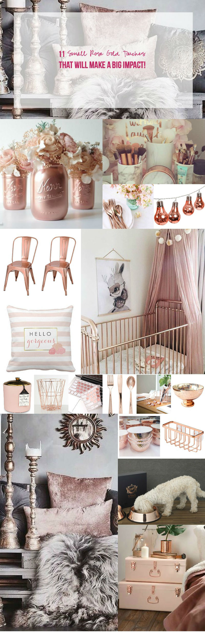 11 Small Rose Gold Touches that will make a BIG Impact