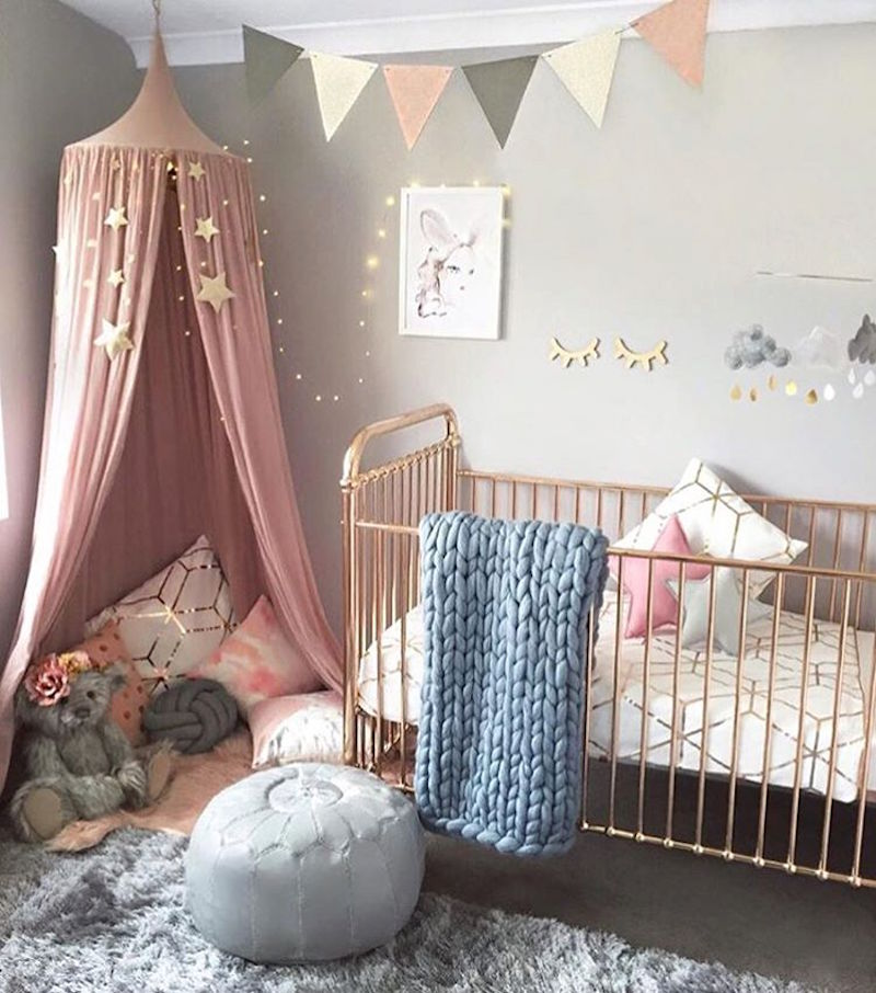Rose Gold And Blush Nursery Hily