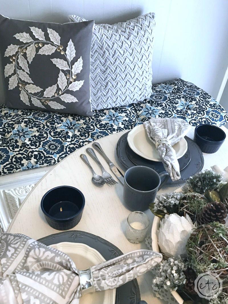 Blue, Gray & White Kitchen Reveal