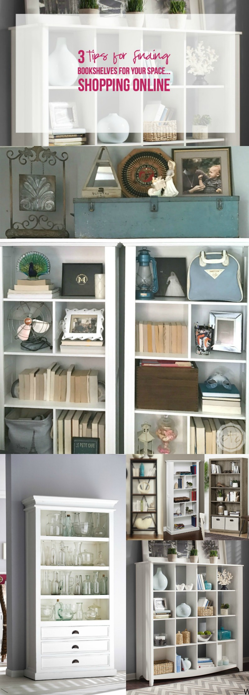 3 Tips for Finding Bookshelves for your Space... Shopping Online