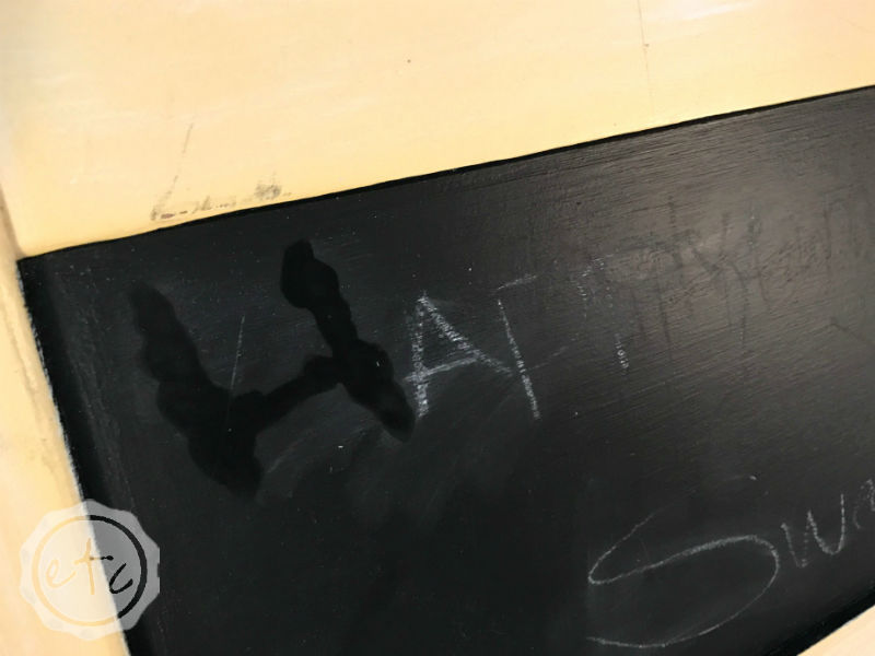 Quick and Easy Tip for Cleaning Old Chalk off a Chalkboard