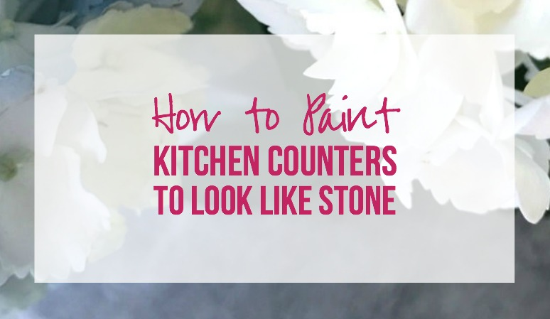 How to Paint Kitchen Counters to Look Like Stone