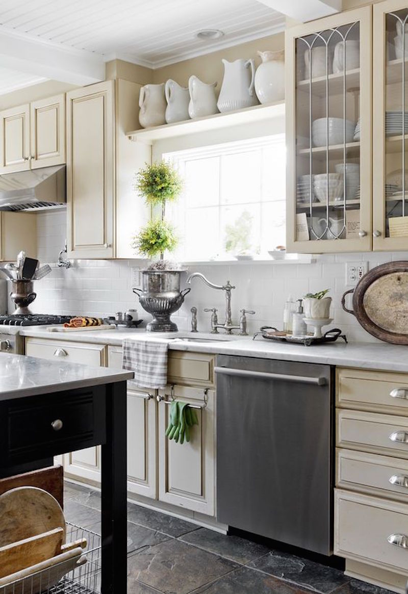 21 Examples of the Space above your Kitchen Cabinets - Happily Ever ...