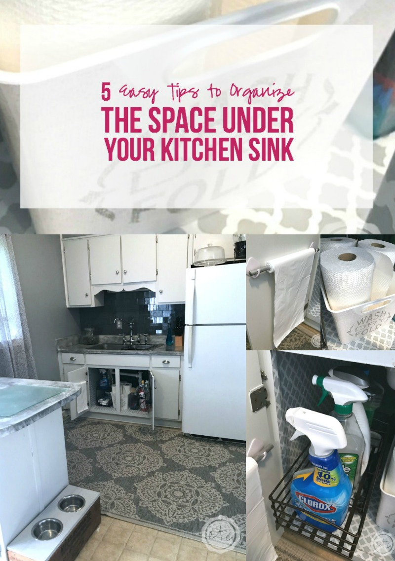 5 easy tips to organize the space under your kitchen sink
