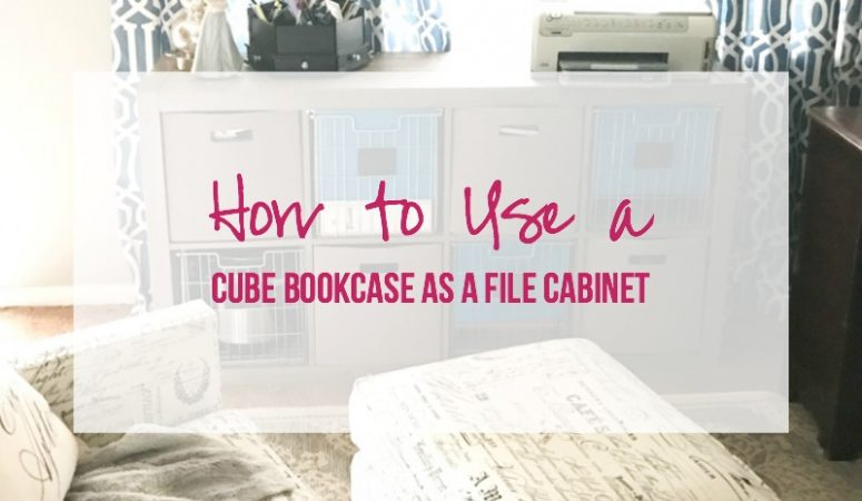 How To Use A Cube Bookcase As File Cabinet