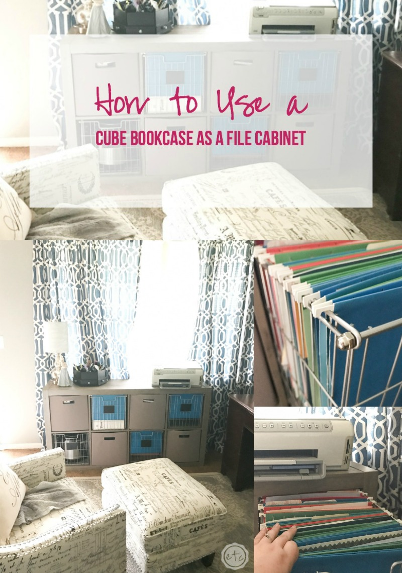 How to Use a Cube Bookcase as a File Cabinet