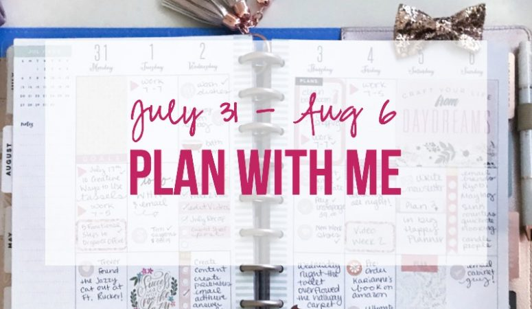 Plan with me July 31 - August 6