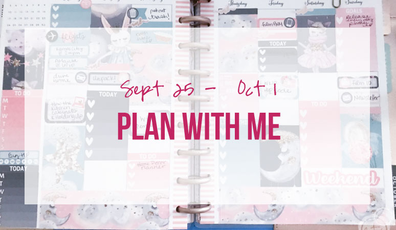 Plan with Me for September 25 – October 1