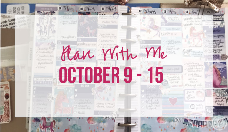 Plan with me October 9 – 15 In the Rain Kit in my Happy Planner