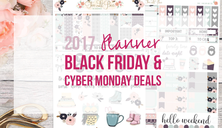 2017 Planner Deals for Black Friday & Cyber Monday