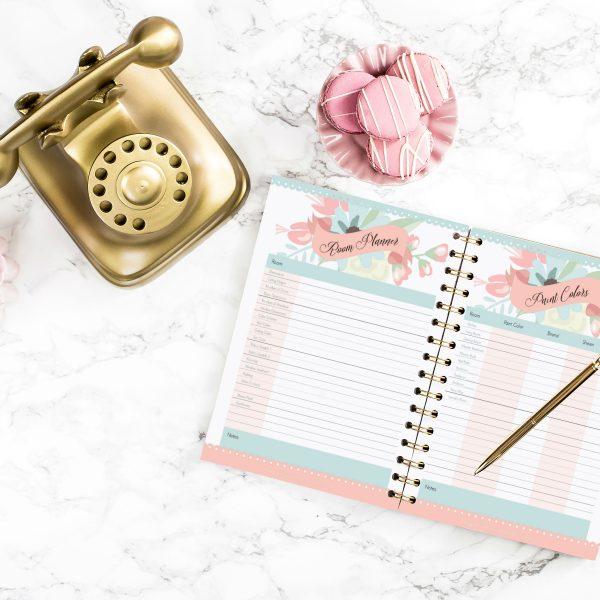 Floral Home Decorating Planner: 12 Printables & 1 Printable ...