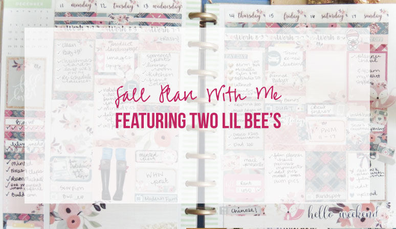 Plan with Me for December 11 – 17 featuring Two Lil Bee's