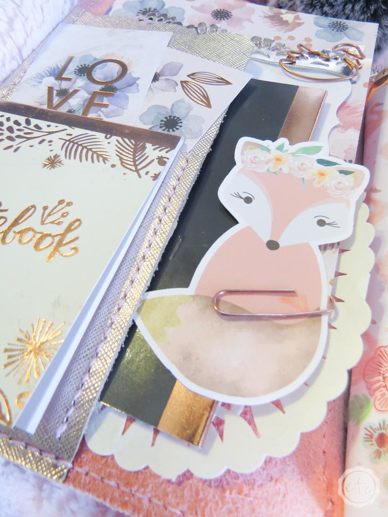 Single Cardstock Die Cut for Planners Scrapbooking Christmas Dog Cardstock Die Cut TNs Journals