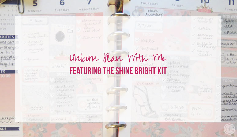 Unicorn Plan With Me featuring the Shine Bright Kit