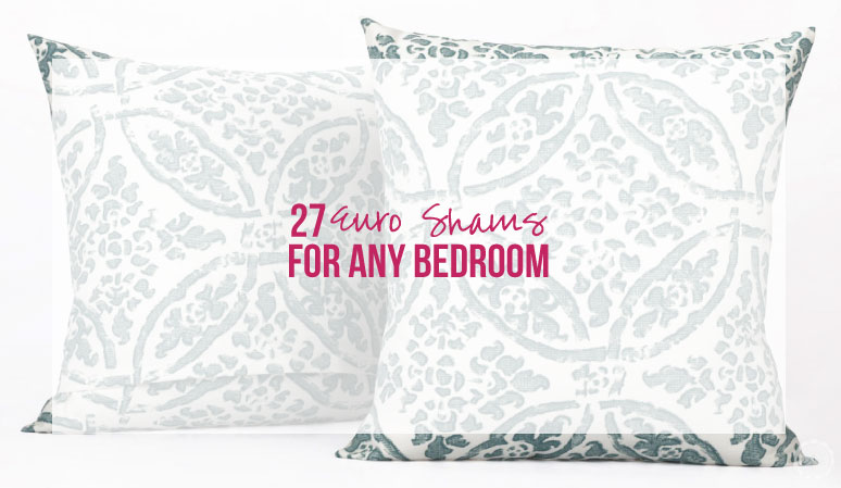 27 Euro Shams for any Bedroom